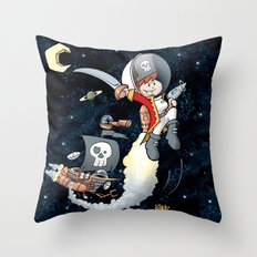 Space Pirate Gilly Throw Pillow