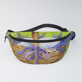 Rabbit in lavender Fanny Pack