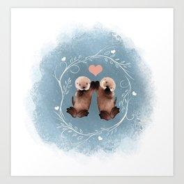 Otter Love Kunstdrucke
