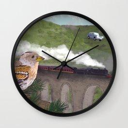 The Flying Car Wall Clock