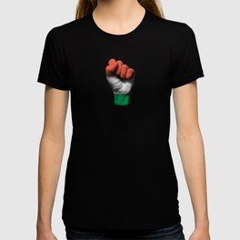Hungarian Flag on a Raised Clenched Fist T-shirt