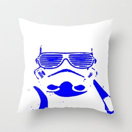 Blue Trooper Throw Pillow