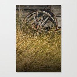 Broken Farm Wagon Wheel Canvas Print