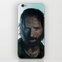 rick grimes iPhone & iPod Skins featuring The Walking Dead - Rick Grimes by firatbilal