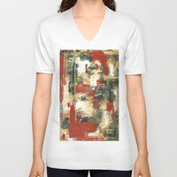 moulin rouge V-neck T-shirts featuring Rouge by MelissaBeaulieu