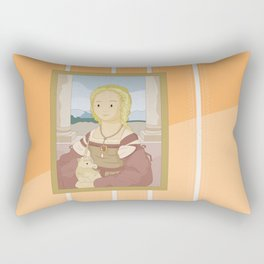 Lady with Unicorn by Raphael Rectangular Pillow