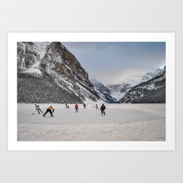 Shinny at Lake Louise Art Print