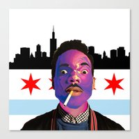 chance the rapper Canvas Prints featuring Chance The Rapper by Emma Scintu