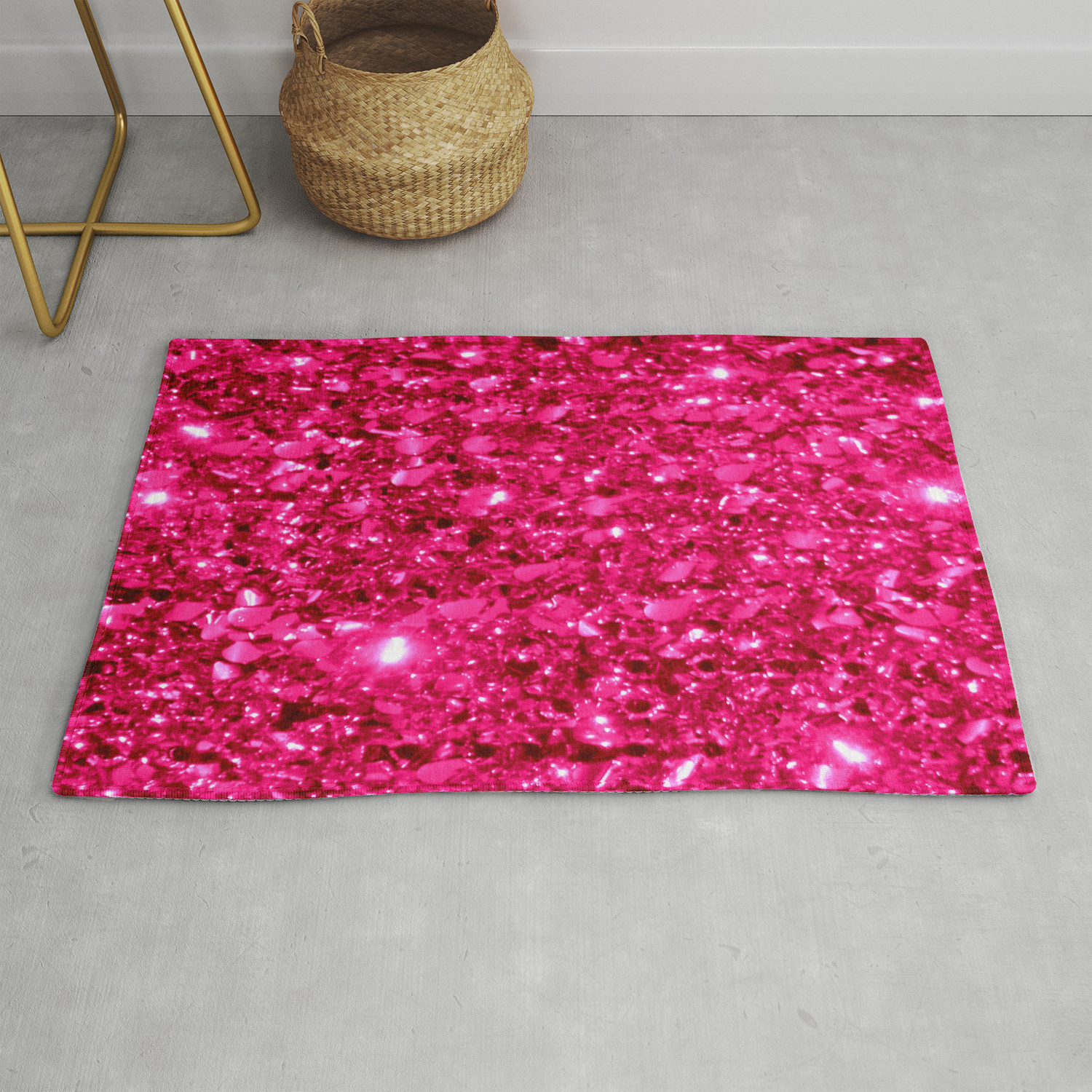 Picture of: Sparkle Hot Pink Rug By Vintageby2sweet Society6