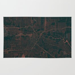 Houston Map Red Rug