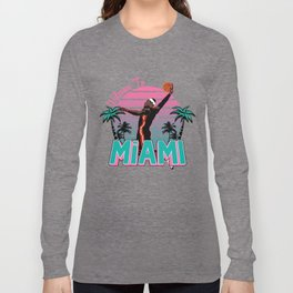 """The Victrs """"Welcome To Miami"""" South Beach Long Sleeve T-shirt"""