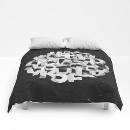 Abstract typography Comforters