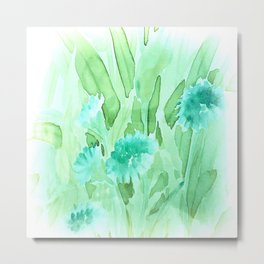 Soft Watercolor Floral Metal Print