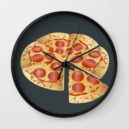 Pepperoni Pizza Wall Clock
