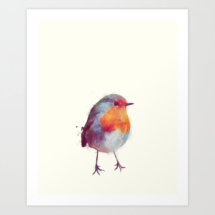 Discover the motif WINTER ROBIN by Amy Hamilton as a print at TOPPOSTER