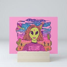 Stellar Girl Mini Art Print