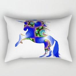 Magic Blue Unicorn Rectangular Pillow