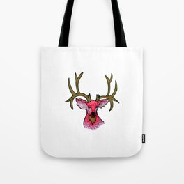 Oh Deer: Pink and Gold Deer Illustration Tote Bag