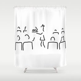 stewardess flight attendant conductor guard Shower Curtain