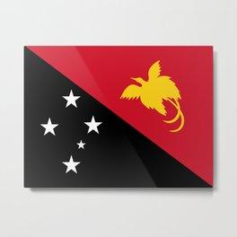 Papua New Guinea Flag Metal Print