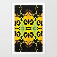 CVAn0044 Fussy Monster Smlies All Over Art Print
