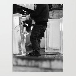 Unloading Ice, Tokyo, Japan Poster