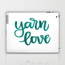 Yarn Love - Teal Laptop & iPad Skin