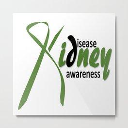 Kidney Disease Awareness Metal Print