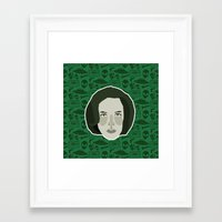 dana scully Framed Art Prints featuring Dana Scully by Kuki