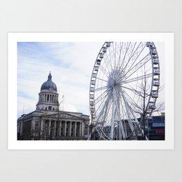 Wheel of Nottingham Art Print