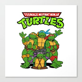 Retro Ninja Turtles Canvas Print
