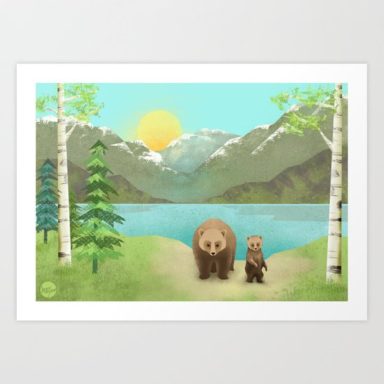 one cub Art Print