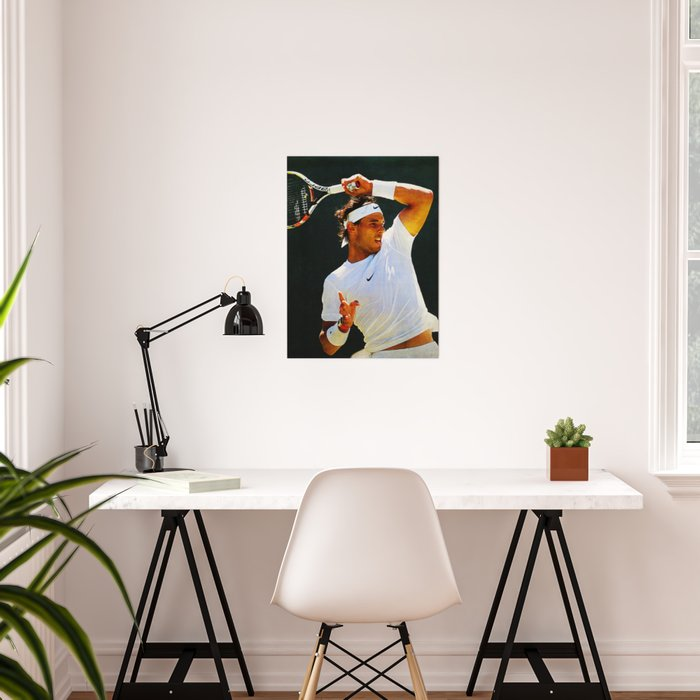 Nadal Tennis Over the Head Forehand Poster