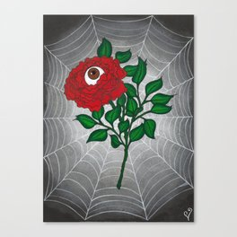 Caught -Eyeball Flower Canvas Print