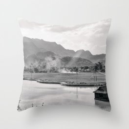 Vietnam Landscape Throw Pillow