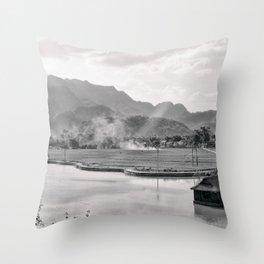 Vietnam Landscape Throw Pillow
