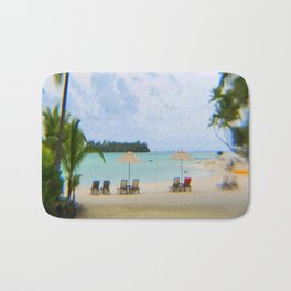 A Dreamy Day at a Tahitian Beach, Bora Bora Bath Mat