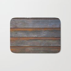 Rustic Wood Panel Boards Aged in Wyoming Bath Mat