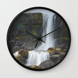 Öxarárfoss Wall Clock