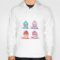 cupcakes Hoodies featuring Cupcakes  by Olive Coleman