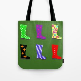 Coloured Wellies Tote Bag