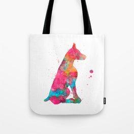 Colorful Doberman Tote Bag