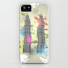 Petronas Towers Abstract iPhone Case