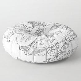 Twisted Moon Mod Floor Pillow