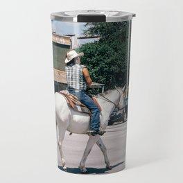 Horse Riding on South Congress Ave Travel Mug