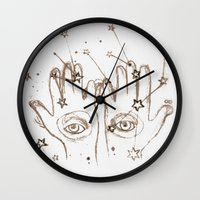 future Wall Clocks featuring Future by Wis Marvin