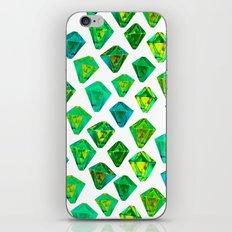 Green gemstone pattern. iPhone & iPod Skin