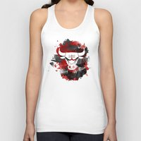 chicago bulls Tank Tops featuring Bulls Splatter by OhMyGod, SoGood!