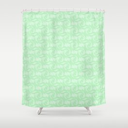 Green abstract Shower Curtain