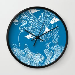 The Last Day of Pegasus Wall Clock